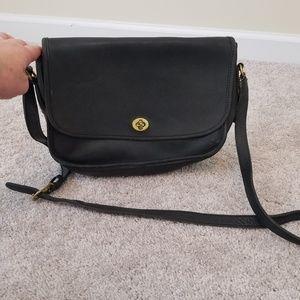 Vintage Coach Crossbody City Bag Black